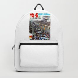 1969 Le Mans poster, Race poster, Car poster, vintage poster Backpack