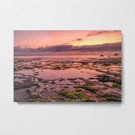 Magic sunset at Nyang Nyang beach in Bali Metal Print