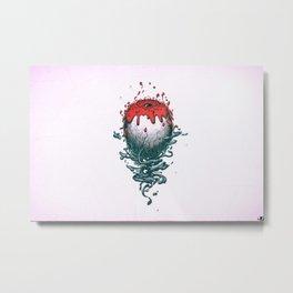 fan Jose Fernandez edit digital Photoshop Adobe Illustrator album covers music simple background logic rap  eyes Metal Print