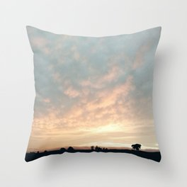 Sunset in Derbyshire Throw Pillow
