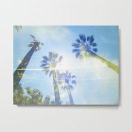 Faded Palms Metal Print