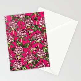 Red clover pattern Stationery Cards