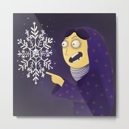 Annoying Snowflake Metal Print