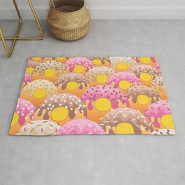 Donuts Wanderlust Yellow Gold Rug