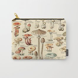 Trippy Vintage Mushroom Chart // Champignons by Adolphe Millot XL 19th Century Science Artwork Carry-All Pouch