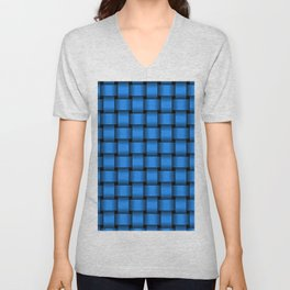 Dodger Blue Weave Unisex V-Neck