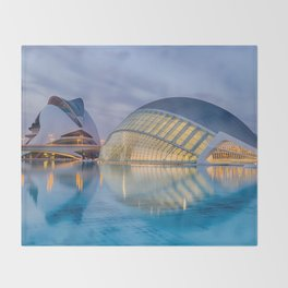 City of Arts and Sciences VIII by CALATRAVA architect Throw Blanket