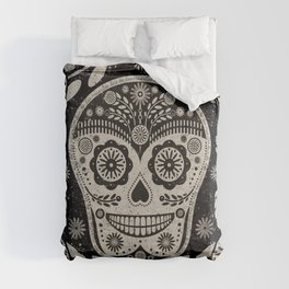 Day of The Dead | Día de los Muertos | Black & Tan Comforters