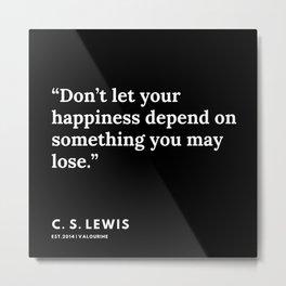 11    | 191121 | C. S. Lewis Quotes Metal Print
