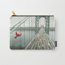 Red and the George Washigton Bridge Carry-All Pouch