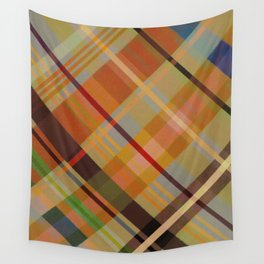 Colorful Plaid #2 Wall Tapestry