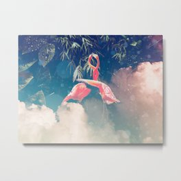 It's the Humidity - Tropical Digital Collage Metal Print