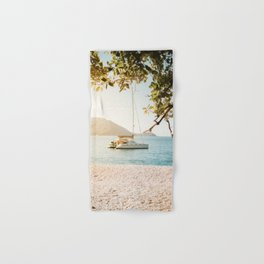 Fitzroy Island Catamaran | Cairns Australia Tropical Beach Sunset Photography Hand & Bath Towel