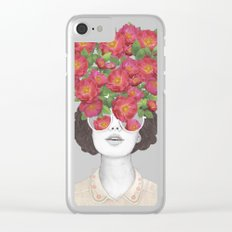 The optimist // rose tinted glasses Clear iPhone Case