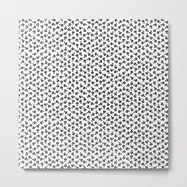Forget Me Nots - Black on White Metal Print