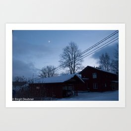 Finland in the winter #5 - Fiskars Artist Village Art Print