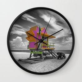 MIAMI BEACH Florida Flair Wall Clock