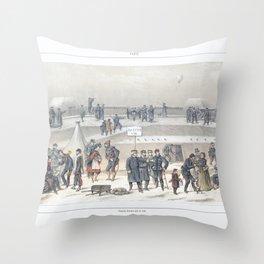 Paris art print Paris Decor office decoration vintage decor SIEGE & BASTION of Paris Throw Pillow