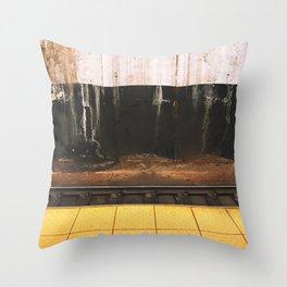 broad street line filth Throw Pillow