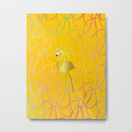 Twist And Turn Flamingo Metal Print