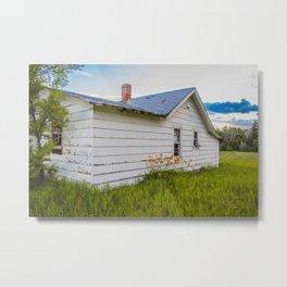 Farmhouse Lilies, North Dakota 1 Metal Print