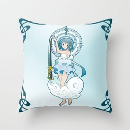 Sayaka Miki - Nouveau edit. Throw Pillow