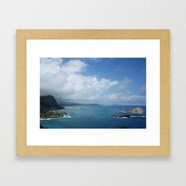 AMAZING SHORES OF OAHU Framed Art Print