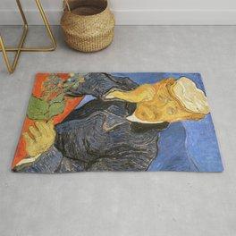 Vincent Van Gogh - Portrait of Doctor Paul Gachet Rug