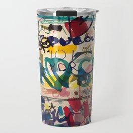 Urban Graffiti Paper Street Art Travel Mug
