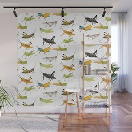 Grasshoppers Wall Mural