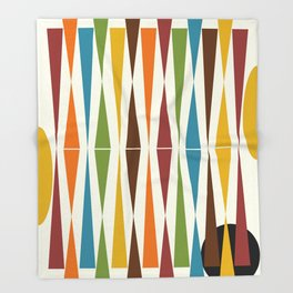 Mid-Century Modern Art 1.4 Throw Blanket