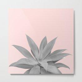 Blush Gray Agave Vibes #1 #tropical #decor #art #society6 Metal Print