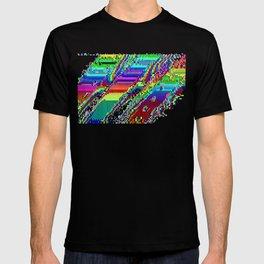 Equatorial Rainbow (Glitch Art / Pixel) T-shirt