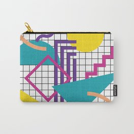 Memphis Pattern - 80s Retro White Carry-All Pouch