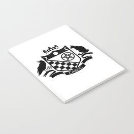 Cabot Crest Hermetic Black/White Notebook