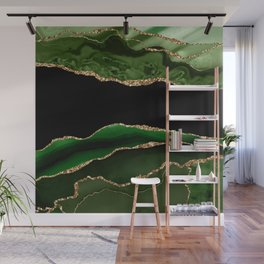 Emerald Marble Glamour Landscapes Wall Mural