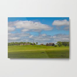Jumbled Abandoned Farm, Burleigh County, North Dakota 3 Metal Print