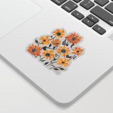 Sunflower Watercolor – Yellow & Black Palette Sticker