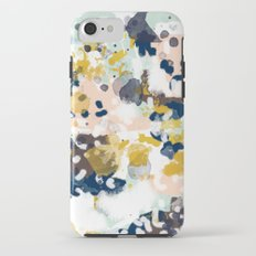 Sloane - Abstract painting in modern fresh colors navy, mint, blush, cream, white, and gold iPhone 7 Tough Case