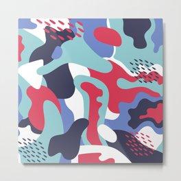 Camo Art Abstract Design Metal Print