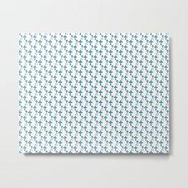 Cross Fibonacci Order Pattern Metal Print