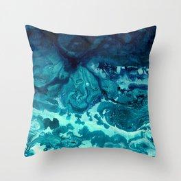 Frosty Depths Throw Pillow