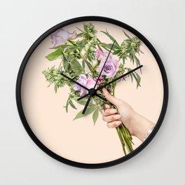 Cannabis love Wall Clock