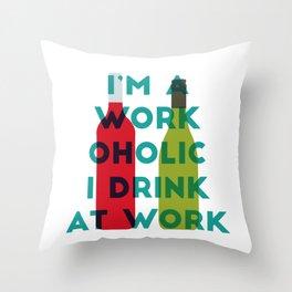 I'm A Workoholic Throw Pillow