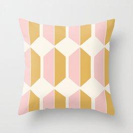Hexagonal Pattern - Sunrise Throw Pillow