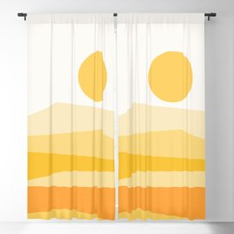 Abstract Landscape 09 Yellow Blackout Curtain