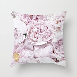 BED OF FLOWERS - PEONY PINK Throw Pillow