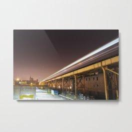 O'Hare Bound Blue Line Train Metal Print