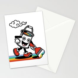 Create Your Own Path - rainbow, creativity, color, paint, happy, mood Stationery Cards
