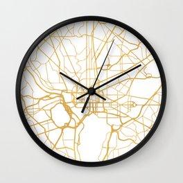 WASHINGTON D.C. DISTRICT OF COLUMBIA CITY STREET MAP ART Wall Clock